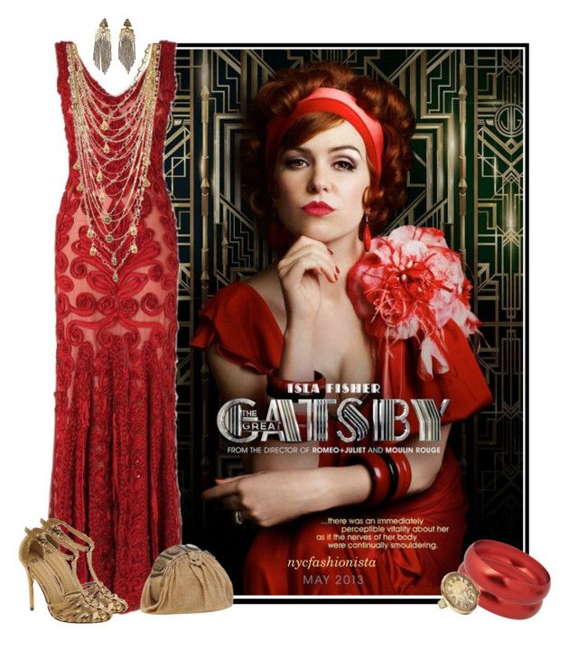 """""""Get the Gatsby Look: Myrtle Wilson"""" by nycfashionista ❤ liked on Polyvore featuring Phase Eight, Breil, Bee Charming, ASOS and vintage"""