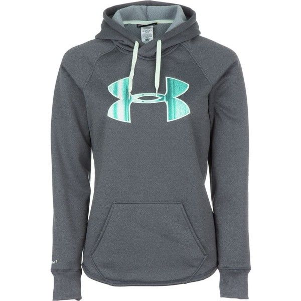 Under Armour Rival Pullover Hoodie ($60) ❤ liked on Polyvore featuring tops, hoodies, hooded fleece pullover, sweatshirts hoodies, fleece hooded sweatshirt, sweater pullover and pullover hoodies