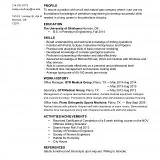 CASEY MARIE COURTNEY PROFILE To secure a position with an oil and natural gas company where I can use my foundational knowledge of petroleum engineering to. http://slidehot.com/resources/casey-courtneys-resume.20149/