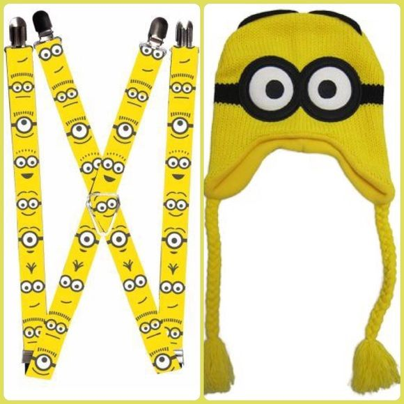 Minion Costume Comes with minion suspenders, and a minion beanie, will only separate if I have two buyers. Both only used once, in perfect condition. All you need is a yellow shirt and some blue jeans!! Other