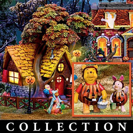 winnie the pooh illuminated halloween village collection