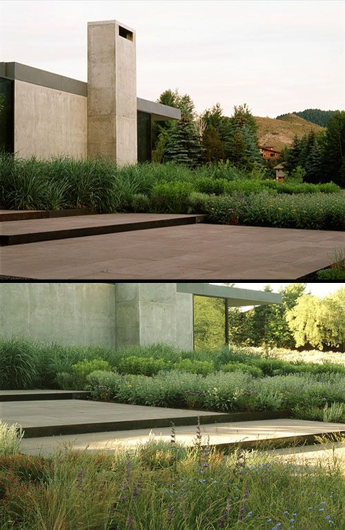 Natural Landscapes And Wildflowers Of Residential By Lutsko Associates  Minimal Landscape Design Part 38