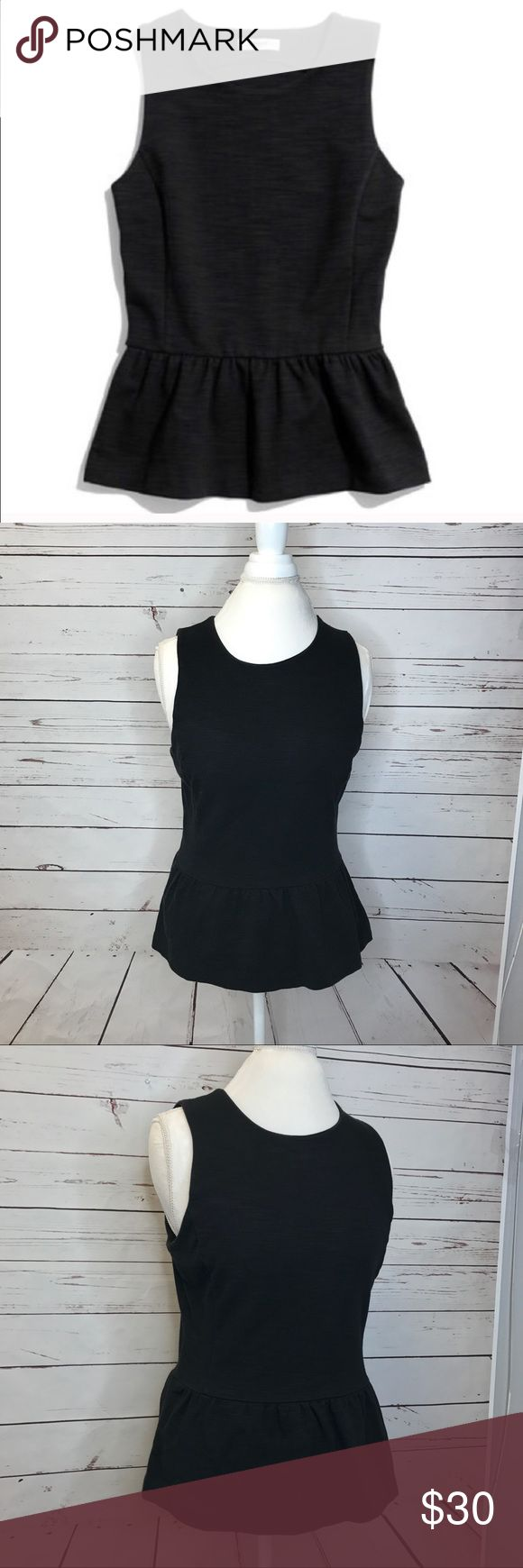 Madewell Black Peplum Top Super cute and comfy Madewell black peplum top with side zipper. Kept in a smoke and pet free environment. Runs true to size. Fabric has some stretch and is also a thicker cotton blend. Very good quality piece and a staple for every woman's wardrobe. Accepting all reasonable offers and bundles Madewell Tops Blouses