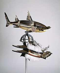 Ken Thaiday Snr., 'Hammerhead shark mask', 1997, mixed media, National Gallery of Australia, Canberra, purchased 1997