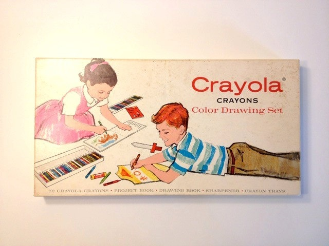 Crayola Crayons Drawing Set 1958