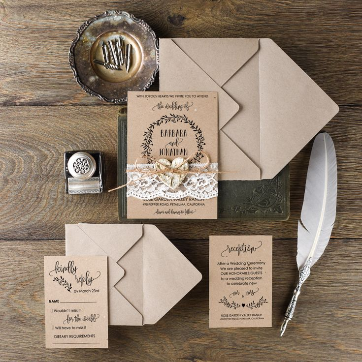 Gorgeous rustic wedding invitation suite from @4LOVEPolkaDots    #4lovepolkadots #rusticwedding #rusticinvitation #burlap #lace #weddingideas #weddingstyle #invitation #invitations #forestwedding #ecowedding #bridetobe #bridal #marriage #love #whiteday #weddings #lovebirds #boho #ecopaper #forest #lburlap