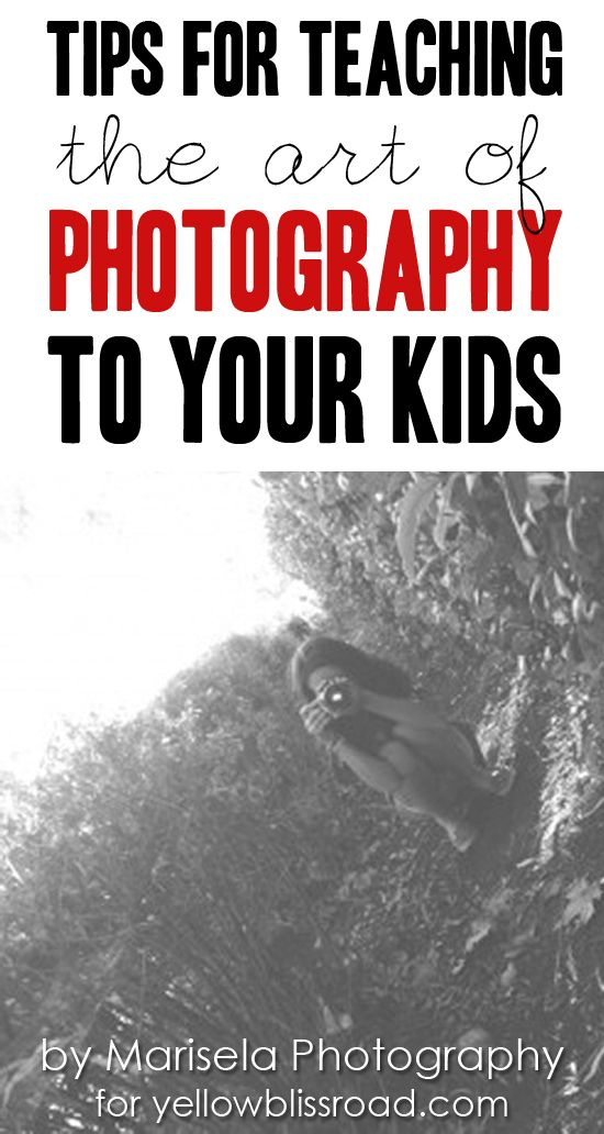Practical tips for teaching your child about photography, from a mom and professional photographer.