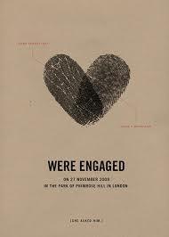 cute engagement announcement