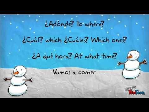 ▶ Spanish Interrogatives Jingle Bells Song/ Canción de los Interrogativos - YouTube