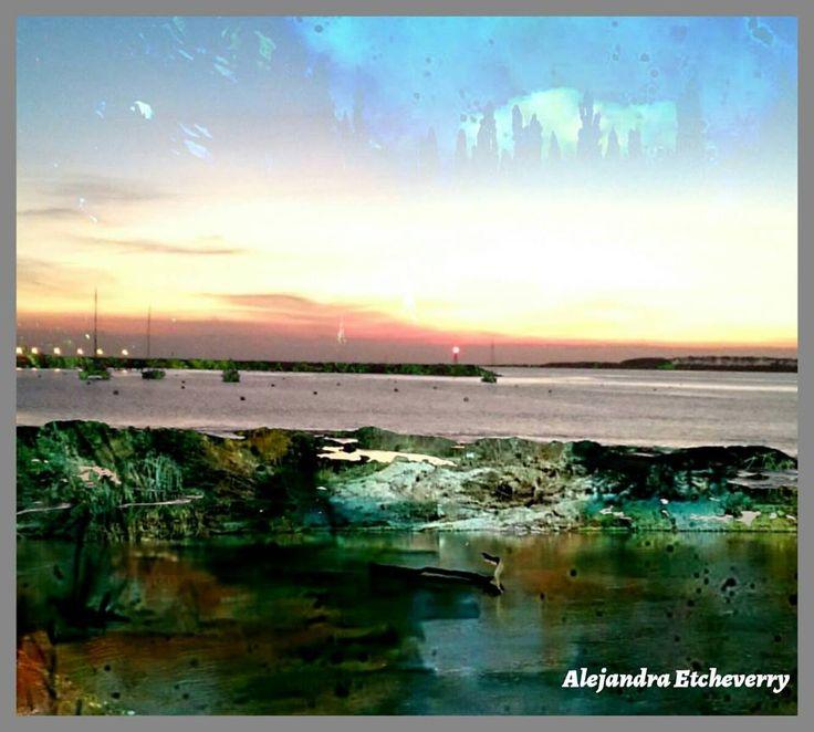 Atardecer en Maldonado - Fotografía de doble exposición - Autora: Alejandra Etcheverry
