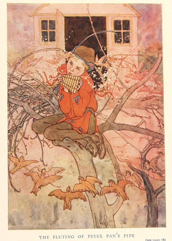 4 Peter Pan Vintage Colour Prints J M By Vintageprintageart Wendy