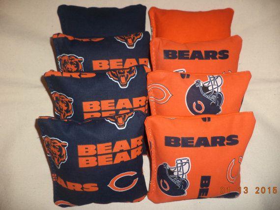 Cornhole bags Chicago Bears corn hole bean bags 8 ACA