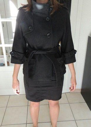 À vendre sur #vintedfrance ! http://www.vinted.fr/mode-femmes/autres-manteaux-and-vestes/37479359-manteau-etam-gris-fonce-manches-34