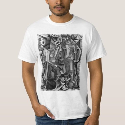 Modern Abstract Cubist Painting Shirt