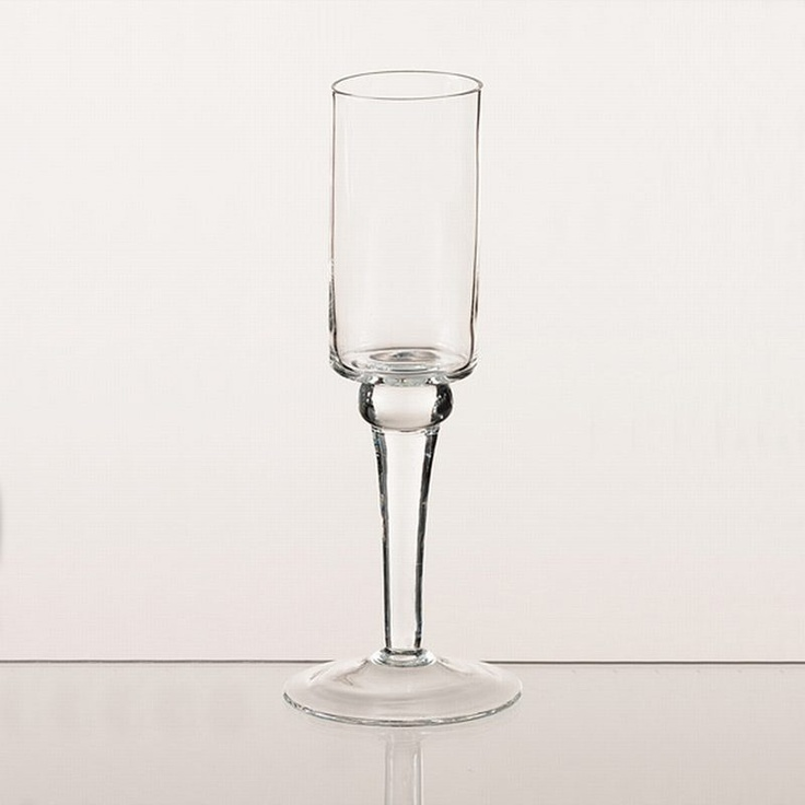 Tall Thin Stemmed Glass Votive Candle Holder As Natural