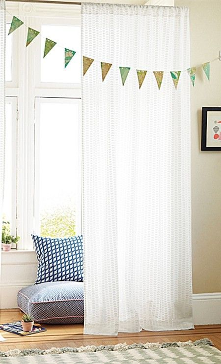 lovely, gauzy, white curtains
