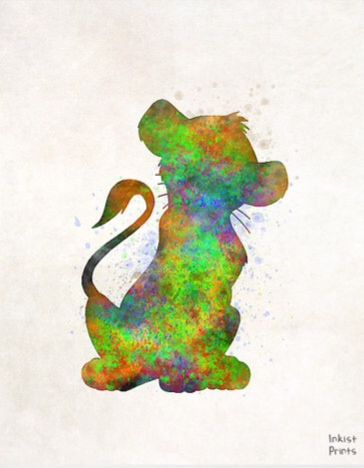 Simba splatter art
