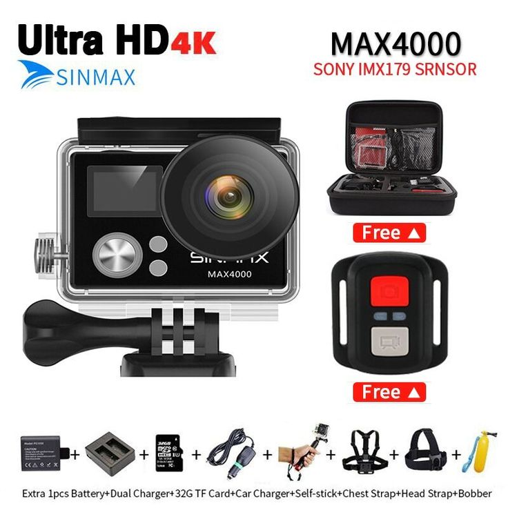 Comfast Sinmax 4K Wifi Action Camera 1080P full HD Remote Controller helmet camera go waterproof pro Extreme cam with bag vs h9r //Price: $62.49//     #onlineshop