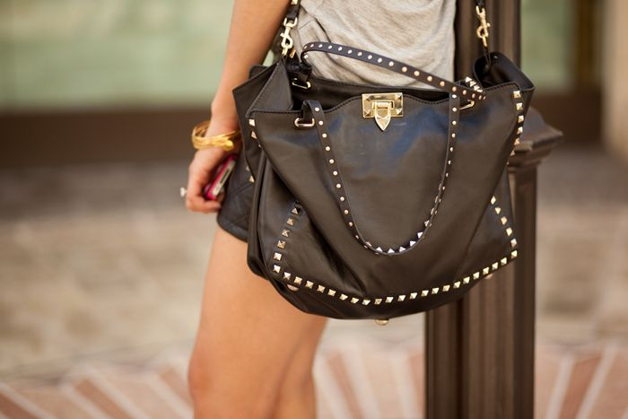 "This is how you rock the ""Rockstud"" by Valentino"