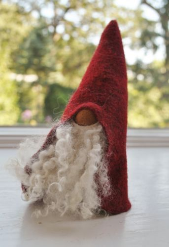 Swedish Christmas Felted Wool and Carved Wood Santa or Tomte from ...