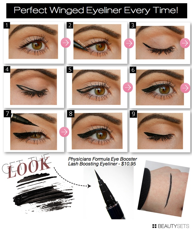 How To Looks Eyes Physicians Formula Physicians Formula 2-in-1 Lash Boosting Eyeliner Ultra Black Perfect Winged Eyeliner Every Time! Physicians Formula Eye Booster Lash Boosting Eyeliner - $10.95