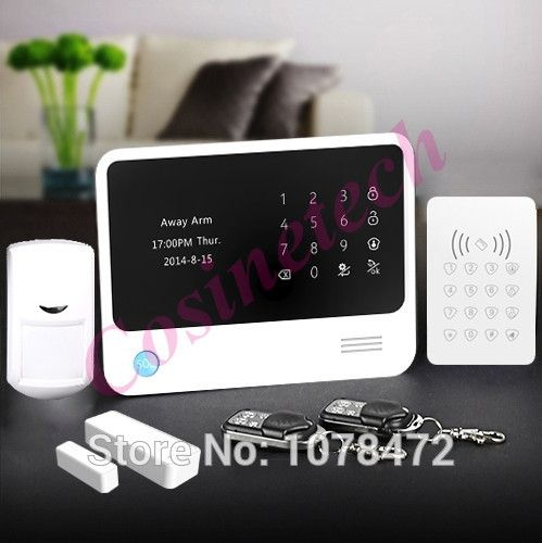 (120.89$)  Buy here - http://ai1iz.worlditems.win/all/product.php?id=32405637379 - GPRS WiFi  GSM alarm system with IOS Android APP Control RFID Keypad Home Alarm System smart home alarm system with alarm sensor
