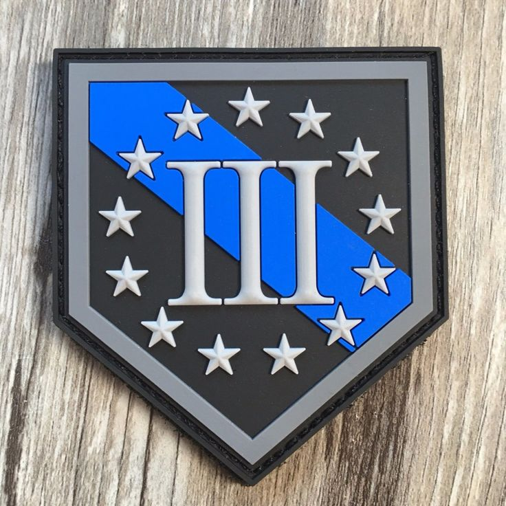 "Thin Blue Line Three Percenter 3% Shield PVC Patch FOR SALE • $8.99 • See Photos! Money Back Guarantee. Thin Blue Line Three Percenter 3% Shield PVC Patch SIZE: Approx. 2.69"" Wide x 3"" Tall Hook Fasteners Backing COLORS: Light Gray, Gray, Blue & Black Our own design! The 182256652221"