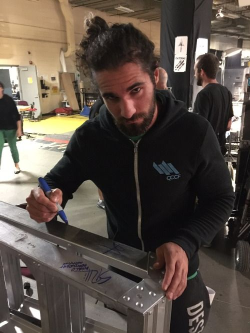 "sethrollinsfans: "" Photo from WWE Auction (x) """