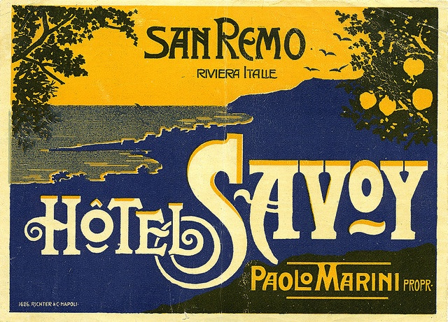 I want this one too!!!     Hotel Savoy San Remo Italy