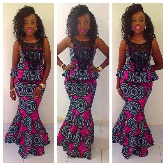Nazih occasion spéciale jupe et haut, dentelle guipure, faible, robe africaine, robe d
