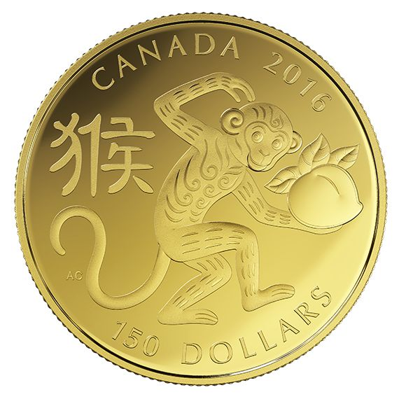 Mintage: 2500 Composition: 18-karat gold Finish: proof Weight (g): 11.84 Diameter (mm): 28 Edge: serrated Certificate: serialized Face value: 150 dollars Artist: Aries Cheung (reverse), Susanna Blunt (obverse)