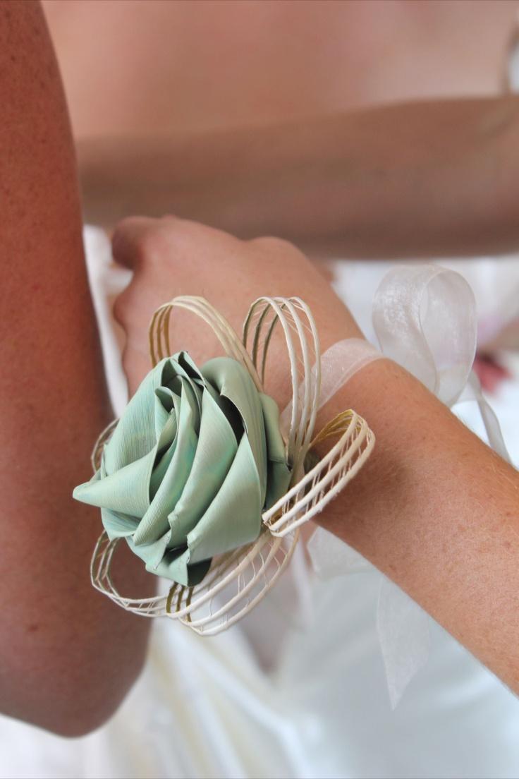 Wrist corsage by Flaxation  www.flaxation.co.nz