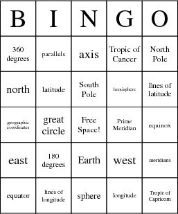 This Geography Bingo card is a great way to quiz and review what my students learn about different geography terms. All I have to do is find the definitions to go along with the terms on the card, which can be taken from our classroom geography book.