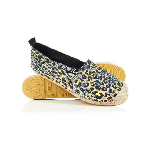 Superdry Erin Printed Espadrilles (213.495 IDR) ❤ liked on Polyvore featuring shoes, sandals, black, superdry, superdry shoes, espadrille shoes, stitch shoes and black espadrilles