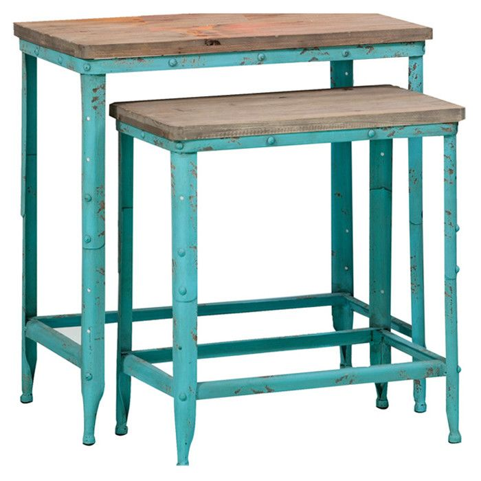 2-Piece Dawson Nesting Table Set - Bloomfield County on Joss & Main
