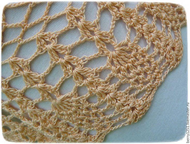 Купить юбка, ажурная, летняя, вязаная, кораллового цвета - коралловый, однотонный, юбка длинная в пол