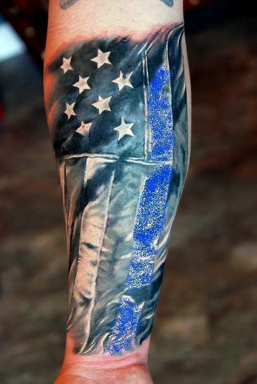 Red Line American Flag >> LEO tattoo blue line | Tattoos | Tattoos, Patriotic ...