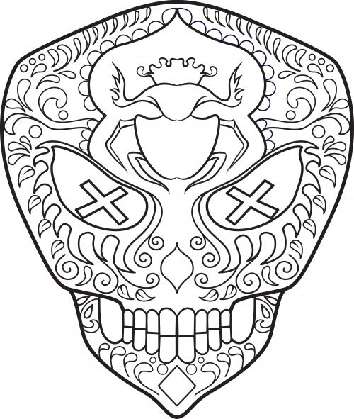 Sugar skulls are beautiful decorations used in the Day of the Dead celebrations. This free, printable coloring page is ideal for older students, and allowed them to express their creativity through color as well as stimulate their fine motor skills while coloring.  After students complete the coloring, have them brainstorm and discuss what they think the sugar skull means.   Read more at…