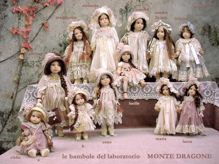 The porcelain doll is made as shown in the image shown - from hair to shoes, hands. Description from bottega.avalonceltic.com. I searched for this on bing.com/images