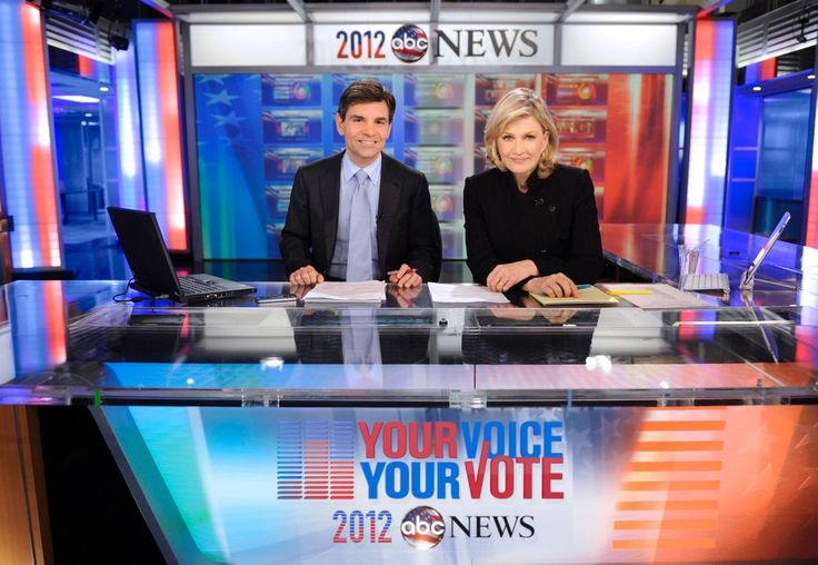 In 2012 Diane Sawyer and her replacement Good Morning America host George Stephanopoulos, provided extensive coverage of the presidential campaigns and election on ABC News.