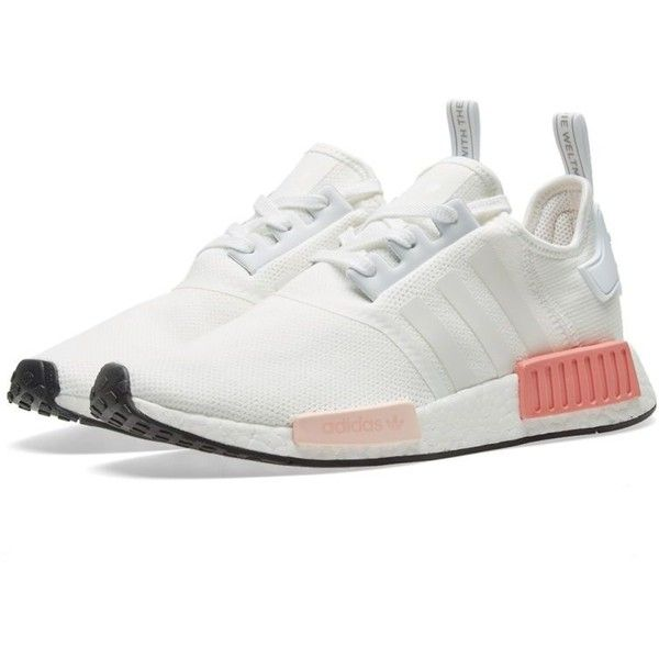 Adidas NMD_R1 W ($135) ❤ liked on Polyvore featuring shoes, stretch shoes, stripe shoes, adidas shoes, adidas footwear and striped shoes