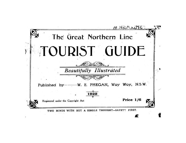 The Great Northern Line Tourist Guide, beautifully illustrated, 1922.