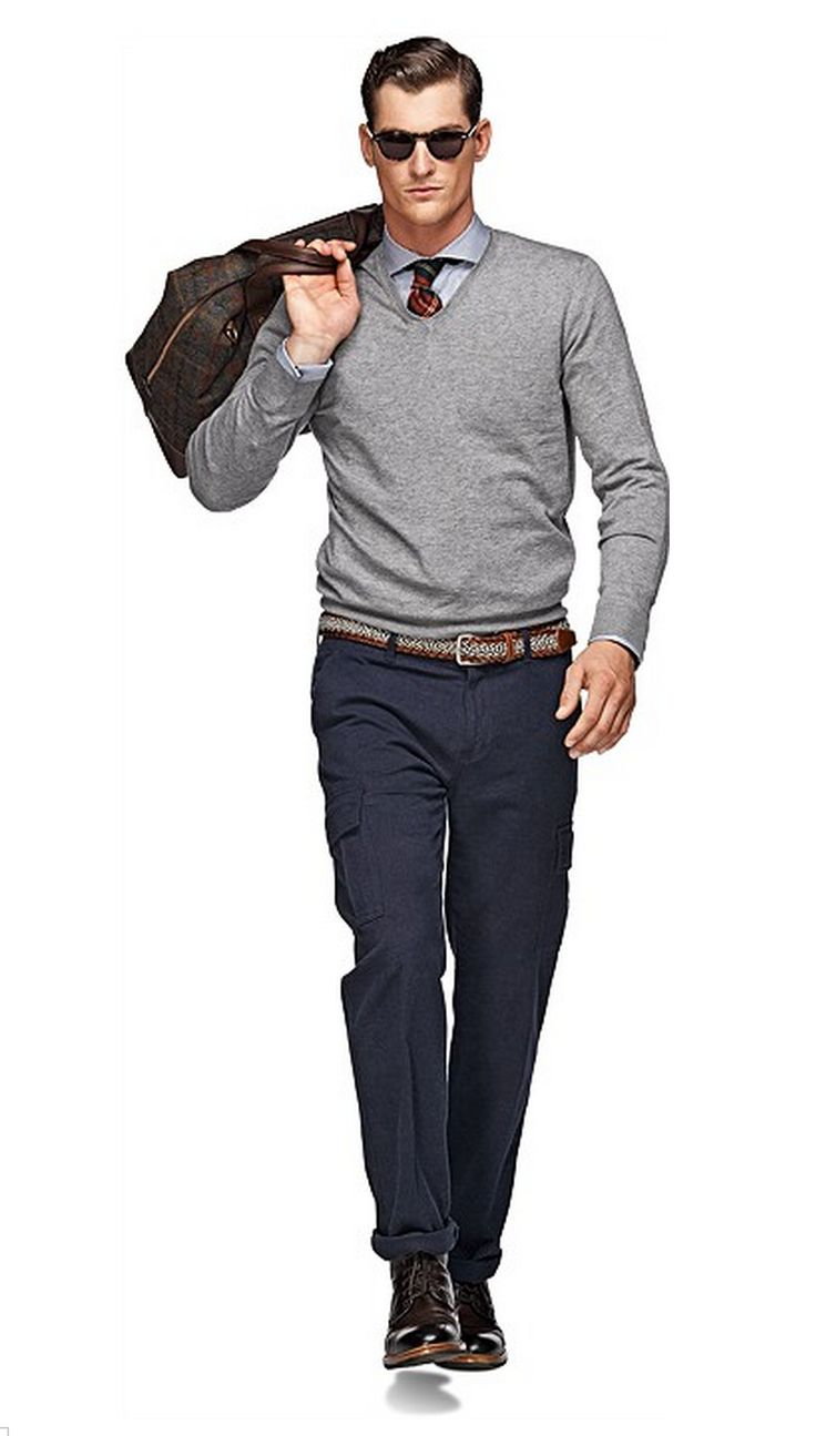 Light Grey V-Neck | Man Outfit | Pinterest | Gray Menu0026#39;s Fashion And Male Fashion