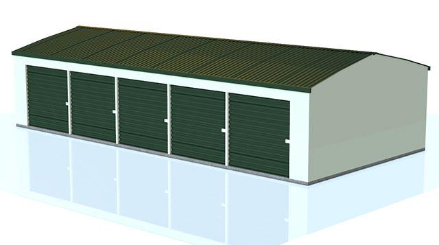 Mini-Storage Building Model - Poser and DAZ Studio Format - Poser World