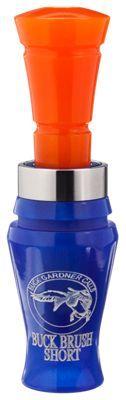 Buck Gardner Calls Buck Brush Acrylic Duck Call - Blue Pearl/Orange Pearl