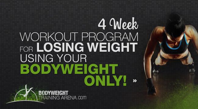 Time to SHRED that BODY FAT: 4 Week Workout Program for Losing Weight with Calisthenics