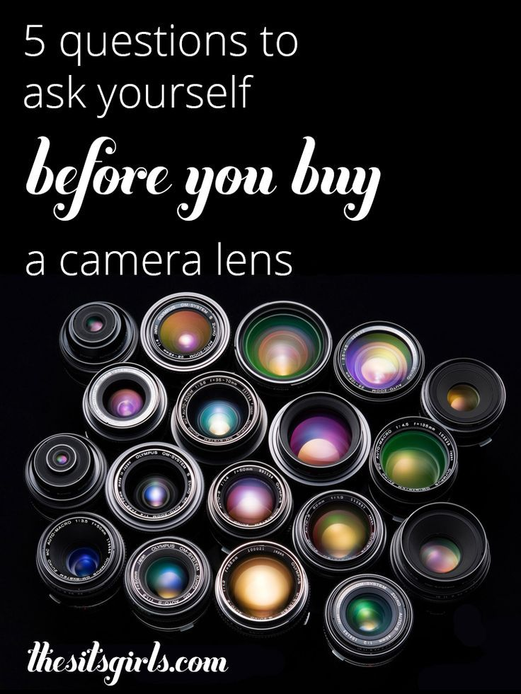 5 questions to help you determine which camera lens to buy for your DSLR. Plus a great overview of different lens types and terms.