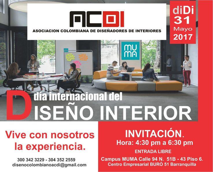 día internacional del Diseño de Interiores. ACDI. Asociación Colombiana de Diseñadores de Interiores. Cristina Narváez Presidente Fundador.
