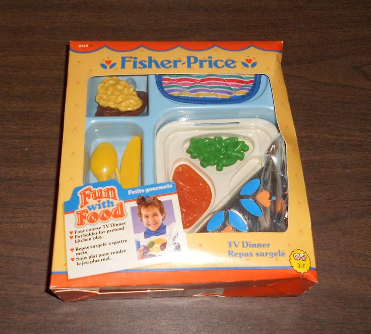 1988 tv dinner fun with food fisher price sealed new - Cuisine bilingue fisher price ...