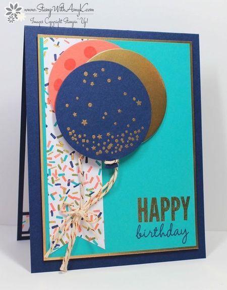 Открытка с днем рождения своими руками воздушные шары, открытки